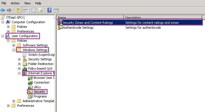 GPO Internet Explorer